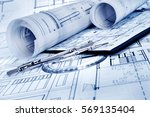 architectural project   | Shutterstock . vector #569135404