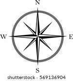 wind rose compass icon | Shutterstock .eps vector #569136904