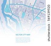 vector flat abstract city map... | Shutterstock .eps vector #569139520