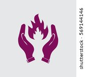 hand and fire.   Shutterstock .eps vector #569144146