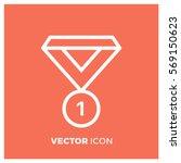 medal line vector icon | Shutterstock .eps vector #569150623