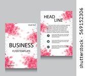 vector brochure flyer design... | Shutterstock .eps vector #569152306