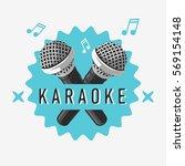 karaoke label sign design with... | Shutterstock .eps vector #569154148