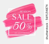 sale season 50  off sign over... | Shutterstock .eps vector #569154874