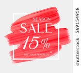 sale season 15  off sign over... | Shutterstock .eps vector #569154958