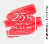 one day sale up to 25  off sign ... | Shutterstock .eps vector #569154964