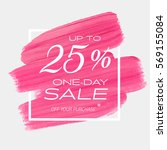 one day sale up to 25  off sign ... | Shutterstock .eps vector #569155084