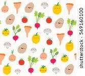 super cute seamless pattern... | Shutterstock .eps vector #569160100