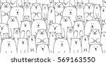 white bears family  seamless... | Shutterstock .eps vector #569163550