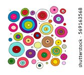 Funny Circles Colorful  Sketch...
