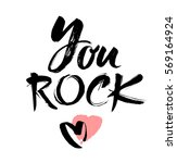 you rock. valentines day... | Shutterstock .eps vector #569164924