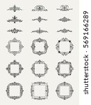 vintage decor elements and... | Shutterstock . vector #569166289