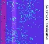 vector vibrant violet cyan... | Shutterstock .eps vector #569166799