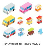 minivans for street food... | Shutterstock .eps vector #569170279