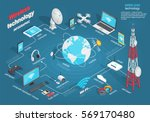 wireless technology infographic ... | Shutterstock .eps vector #569170480