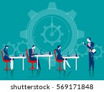 managers control business... | Shutterstock .eps vector #569171848