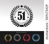 black laurel wreath anniversary.... | Shutterstock .eps vector #569173429