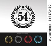 black laurel wreath anniversary.... | Shutterstock .eps vector #569173450