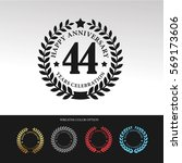 black laurel wreath anniversary.... | Shutterstock .eps vector #569173606