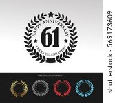 black laurel wreath anniversary.... | Shutterstock .eps vector #569173609