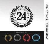 black laurel wreath anniversary.... | Shutterstock .eps vector #569173750