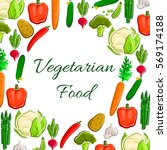 veggies  greens and vegetables... | Shutterstock .eps vector #569174188