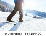 nordic skiing  winter holidays...   Shutterstock . vector #569184400