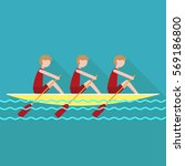 students rowing | Shutterstock .eps vector #569186800