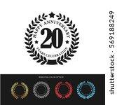 black laurel wreath anniversary.... | Shutterstock .eps vector #569188249