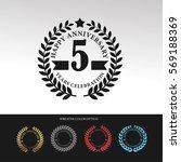 black laurel wreath anniversary.... | Shutterstock .eps vector #569188369