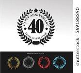 black laurel wreath anniversary.... | Shutterstock .eps vector #569188390