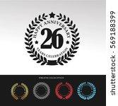 black laurel wreath anniversary.... | Shutterstock .eps vector #569188399