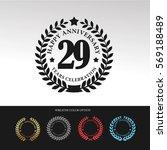 black laurel wreath anniversary.... | Shutterstock .eps vector #569188489
