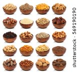 collection of healthy dried... | Shutterstock . vector #569190190