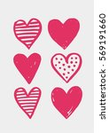 valentines day greeting poster. ... | Shutterstock .eps vector #569191660