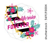 california forever state map... | Shutterstock .eps vector #569193004