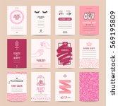cosmetics shop business card ... | Shutterstock .eps vector #569195809