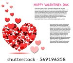 hearts on abstract love... | Shutterstock .eps vector #569196358