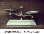 Vintage Balance On Wood...