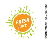 juice splash vector sign | Shutterstock .eps vector #569200780