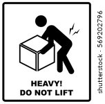 warning heavy object sign. do... | Shutterstock .eps vector #569202796