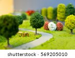 Miniature Landscape Of A Park...