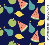 colorful vector seamless... | Shutterstock .eps vector #569207146