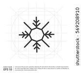 snow flake icon   Shutterstock .eps vector #569208910