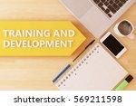 training and development  ... | Shutterstock . vector #569211598
