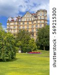 Small photo of BATH, ENGLAND - JULY 28: the Empire Hotel, by architect Major Charles Edward Davis for the hotelier Alfred Holland on July 28, 2015 in Bath, Somerset, England now converted to apartments
