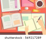 illustration featuring books... | Shutterstock .eps vector #569217289