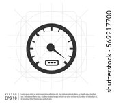 speedometer icon | Shutterstock .eps vector #569217700