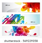 set of abstract colorful web... | Shutterstock .eps vector #569229358
