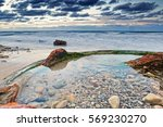 guanabo beach after a storm | Shutterstock . vector #569230270